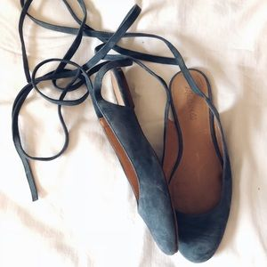 Madewell April Ankle Wrap Flat size 8.5